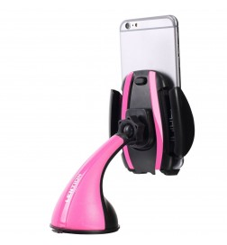 Universal 360° Rotating Car Windshield Mount Holder Stand Bracket For Cell Phone Pink