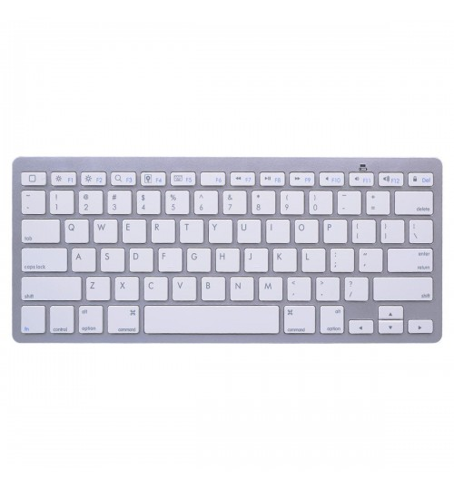 OEM - Bluetooth Wireless Mini Keyboard For Apple Iphone 1 2 3 4 Ipad Laptop Pc Tablets Silver