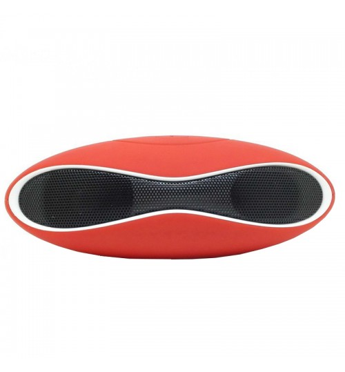 MULT - Function Mini Football Portable Wireless Stereo Bluetooth Speaker Mic Super Bass Red White