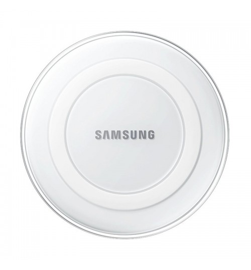 SAMSUNG - Wireless Charger Blue Light High Efficiency Wireless Charging Pad For Galaxy S6 Edge White