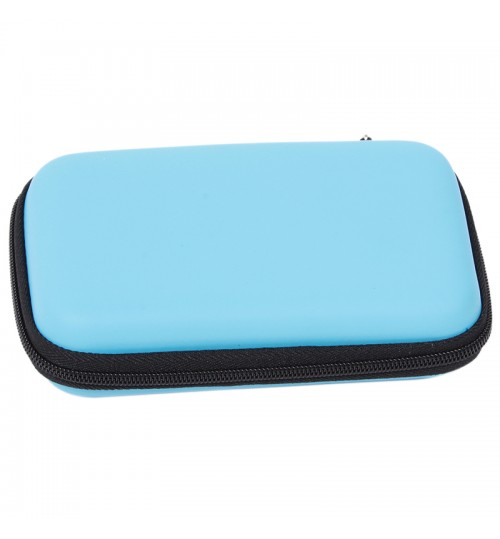 Mobile Hd Kit Case High Capacity Storage Bag Digital Gadget Devices Usb Cable Data Line Travel Insert Portable Blue