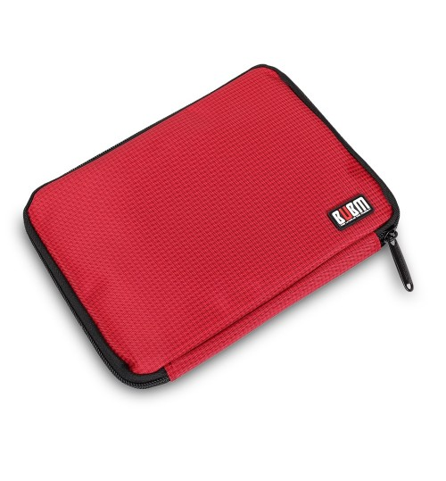 BUBM - Waterproof Travel Storage Bag Electronic Accessories Tool Pouch Organizer Hard Drive Pen Data Cable Bag Red